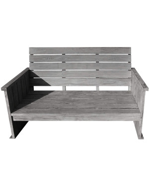 Strandgut07 Lounge Bank grau finish 120 x 65cm